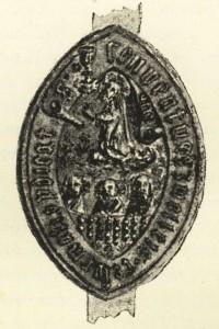 Zegel van het Dominicaner klooster te Zwolle, 15de eeuw.