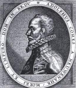 De graaf van Nieuwenaar was stadhouder van Overijssel van 1584 tot 1589