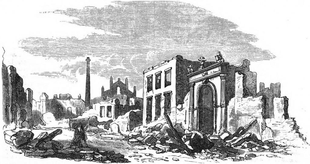 HET LOGEMENT DE VERGULDE KLOMP; teekening van C.C.A. Last, gravure van W.H. Stam.