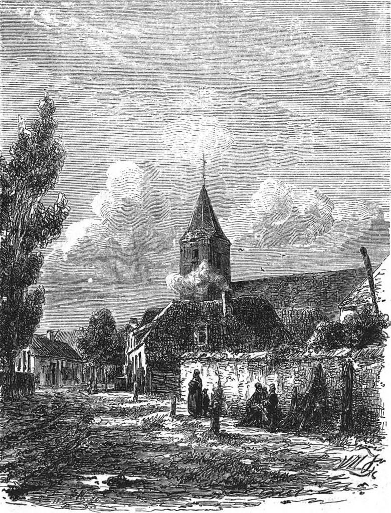 IJSSELMUIDEN; teekening van W. Hekking Jr., gravure van A. Kunz.