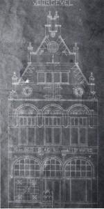 10 blauwdruk van het pand Lange Bisschopstraat 71 uit 1899, naar ontwerp van Wolter te Riele (coll. G.A.D., foto auteur).